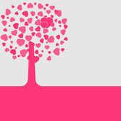 Love shape valentine's card. EPS 8 — Stock Vector