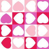 φόντο με δεκαέξι καρδιές. eps 8 — Διανυσματικό Αρχείο