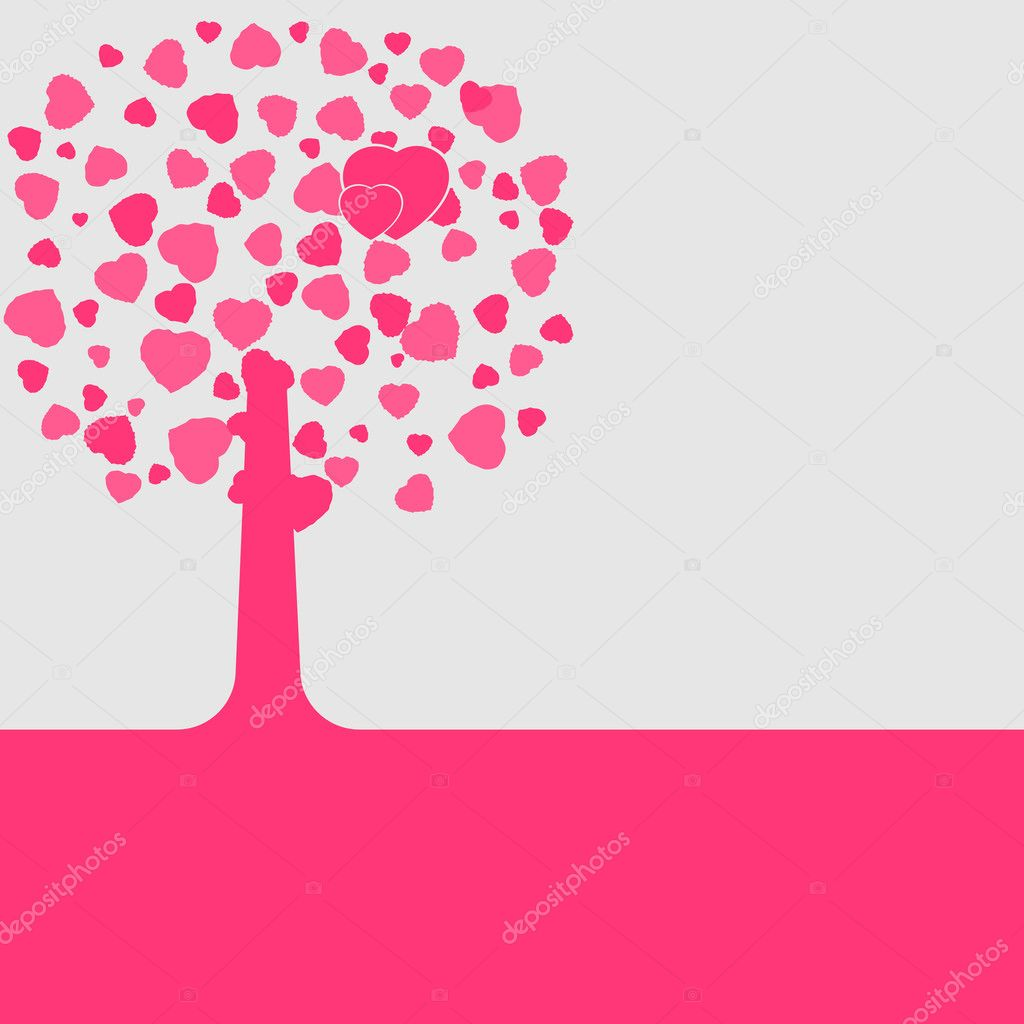 Love shape valentine's card. EPS 8 vector file included — Vettoriali Stock  #4856919