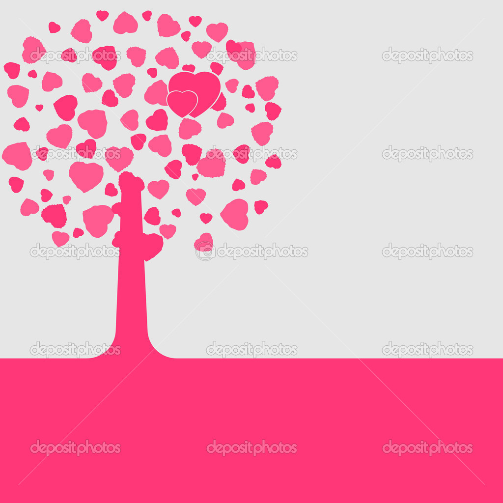 Love shape valentine's card. EPS 8 vector file included — Imagen vectorial #4856919