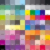 Cmyk-palette für künstler und designer. eps 8 — Stockvektor