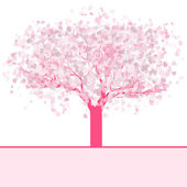 Stylized love tree made of hearts. EPS 8 — Stock Vector