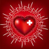 Heart normal electrocardiogram, EPS8 — Stock Vector