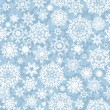 Vector de stock : Seamless snow flakes vector pattern. EPS 8