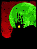 Grungy Halloween background. EPS 8 — Vettoriale Stock