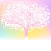 árbol de amor hecho de corazones con el espacio de la copia. eps 8 — Vector de stock