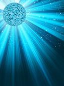 Mirror disco ball. EPS 8 — Stock Vector