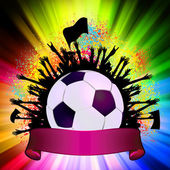Soccer ball (football) on grunge background. EPS 8 — Vector de stock