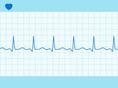 Heart cardiogram fully editable. EPS 8 — Vettoriale Stock