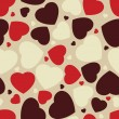 Hearts seamless Background. EPS 8 — Stock vektor