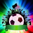 Soccer ball (football) on grunge background. EPS 8 — Stock vektor