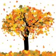 Royalty-Free Stock Vector Image: Beautiful autumn tree for your design. EPS 8