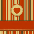 Lovely stripy card 70s retro template. EPS 8 — Stok Vektör