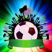 Soccer ball (football) on grunge background. EPS 8 — Stockvector