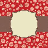 Plantilla de tarjeta de retro copos de nieve. archivo vectorial eps 8 incluido — Vector de stock