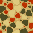 Royalty-Free Stock Vector Image: Hearts seamless Background. EPS 8