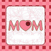 Mother's Day card template. EPS 8 — Stock Vector