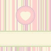 ビンテージ バレンタイン カードのテンプレートです。eps 8 — ストックベクタ