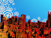 Grunge city design. EPS 8 — Stock Vector