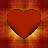 Burst Mosaic heart card template. EPS 8 — Stock Vector