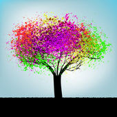 Abstract colorful tree. With copy space. EPS 8 — Stock Vector