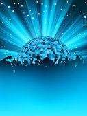 партия плакат с диско-шар. eps 8 — Cтоковый вектор
