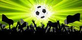 Grunge Soccer Ball background. EPS 8 — Stock Vector