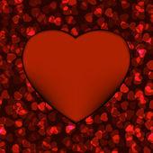 Kırmızı kalpli çerçeve. eps 8 — Stok Vektör