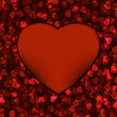 Red heart frame. EPS 8 — Stock Vector