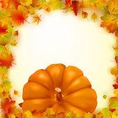 Colorful autumn card. EPS 8 — Stock Vector