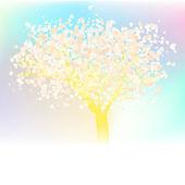 Stilize sevgi ağacı kalplerini yaptı. eps 8 — Stok Vektör