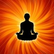 Vector de stock : Power of Yog- Meditation. EPS 8