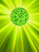Sparkling green discoball. EPS 8 — Stock vektor