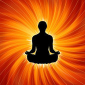 Power of Yoga - Meditation. EPS 8 — Stock Vector