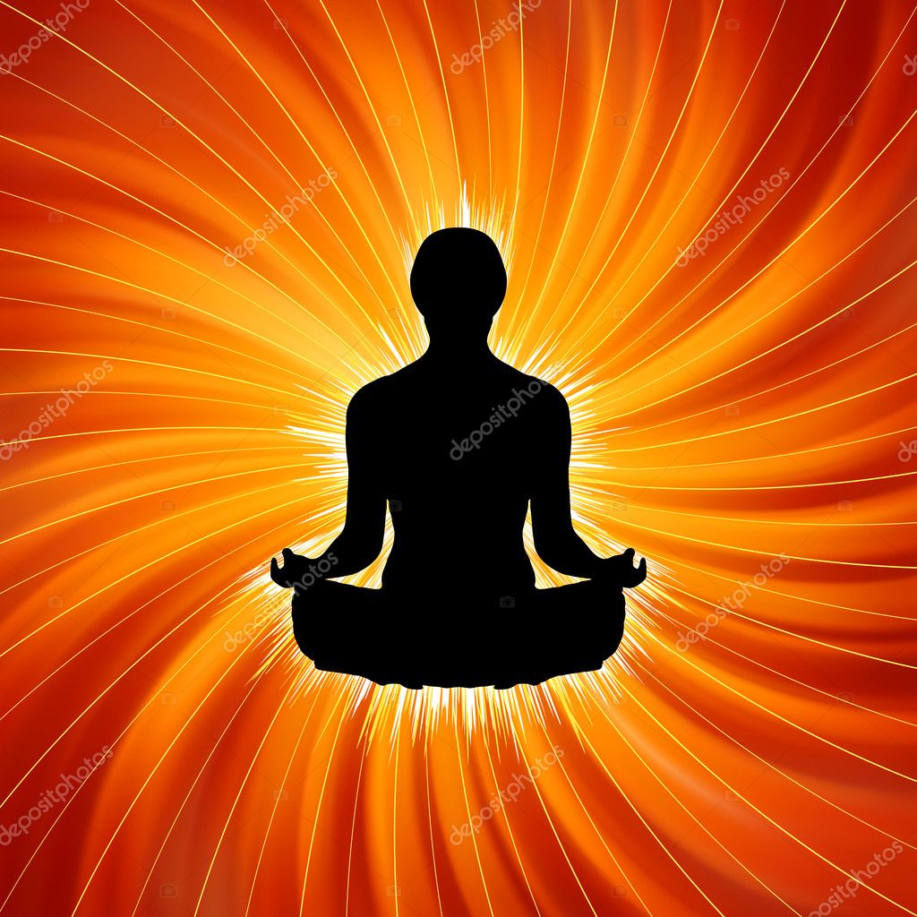 Power of Yoga - Meditation. EPS 8 vector file included — Imagens vectoriais em stock #5178719