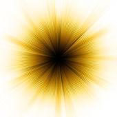 Golden explosion of light. EPS 8 — Stock Vector