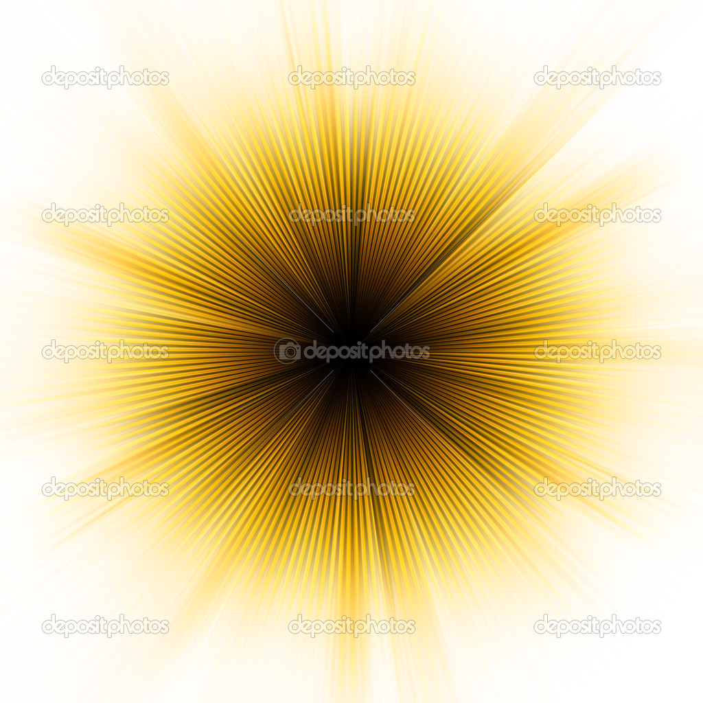 Golden explosion of light. (no transparencies). EPS 8 vector file included — Stock Vector #5196765