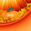 Abstract Classical autumn card with pumpkin. EPS 8 - Vettoriali Stock
