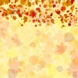 Vector de stock : Autumn leaves background. EPS 8