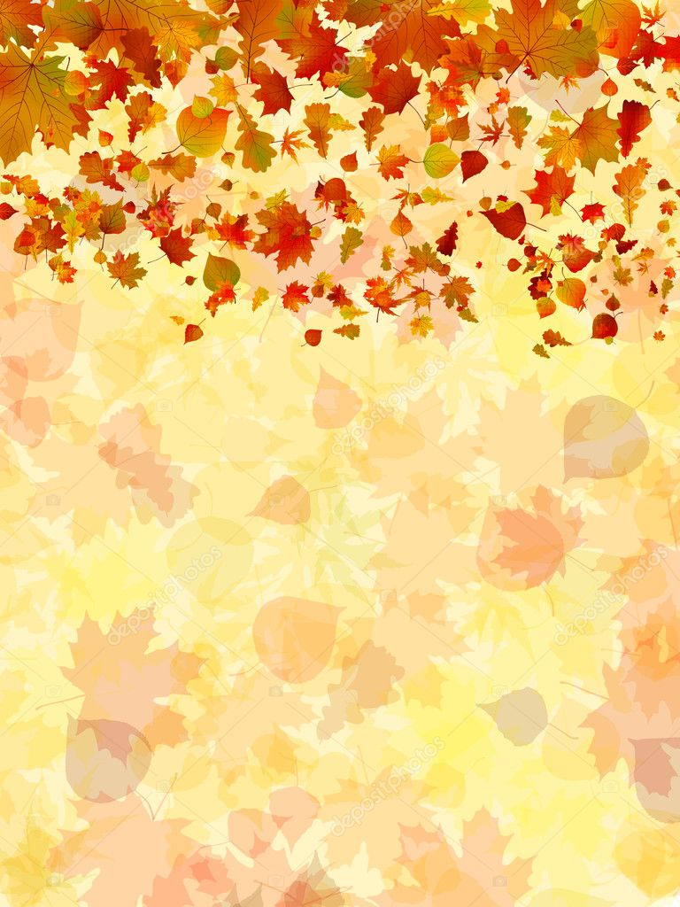 Autumn leaves background. EPS 8 vector file included — Stock Vector #5216775