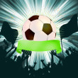 Grunge Soccer Ball background. EPS 8 - Stock Vector