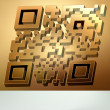 Gold 3D qr code for item in sale. EPS 8 — Stock Vector