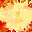 Autumn leaves background. EPS 8 vector file included — Stock Vector