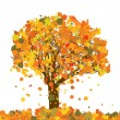 Beautiful autumn tree for your design. EPS 8 — Stock Vector #5260073