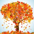 Beautiful autumn tree for your design. EPS 8 - Stockvectorbeeld