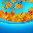 Autumn card of colored leafs. EPS 8 — Image vectorielle