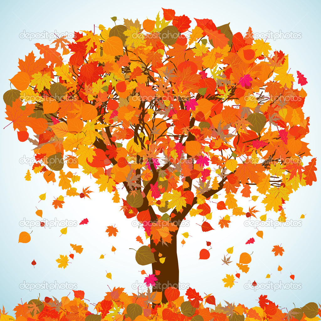Beautiful autumn tree for your design. EPS 8 vector file included  — Stock Vector #5273613
