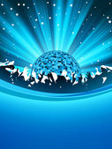 Cartaz de festa com bola de discoteca. eps 8 — Vetorial Stock