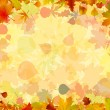 A frame formed by colorful autumn leaves. EPS 8 — Stock Vector