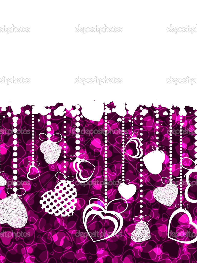 A lot of hearts valentine card. EPS 8 vector file included — Stock Vector #5318827
